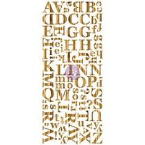 Wood Veneer Alphabets Dark, holzes Alfabet