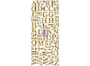 Prima Marketing und Petaloo Wood Veneer Dark alphabet, alphabet in wood, 106 pieces