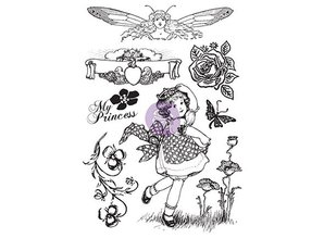 Prima Marketing und Petaloo Rubber stamp, Princess