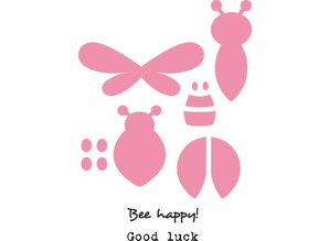 Marianne Design Stempling og Embossing Stencil + mini stempel