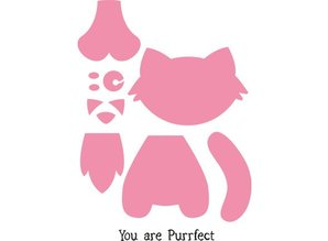 Marianne Design Stamping and embossing folder, cat