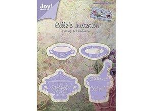 Joy!Crafts und JM Creation Alegría Crafts, y el estampado de la plantilla