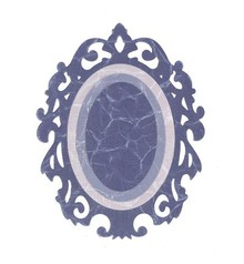 Sizzix Framelits Set con 3 modelli, Ovale Bordi w / Ornate