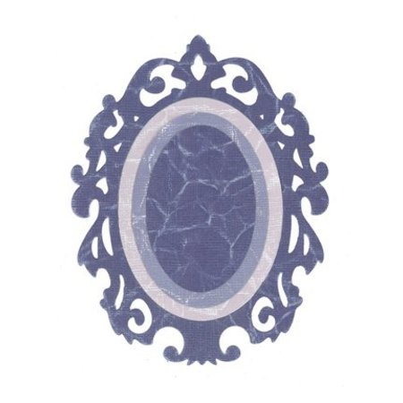 Sizzix Framelits Set con 3 patrones, bordes adornados / w Oval