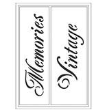 Schablonen und Zubehör für verschiedene Techniken / Templates Flexible Schablonen , Blatt 21x14,8 cm, Memories / Vintage, 1 Stck.