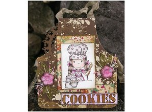 Objekten zum Dekorieren / objects for decorating Hollandsk DooBaDoo - Mini album schort