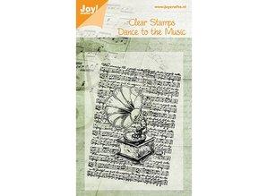 Joy!Crafts und JM Creation Joy Craft, Clear stamps, gamle pladespiller