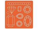 ModPodge Mod Podge, Mod Mold Gems, 95 x 95 mm, 9 Designs