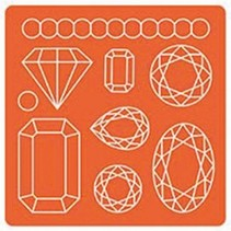 Mod Podge, Mod Mold Gems, 95 x 95 mm, 9 Designs