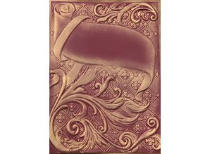 Spellbinders und Rayher 3D prægning stencil, M-Bossabilities, Ornamental Swirls, 12,7 x 17,8 cm, 1 Designs
