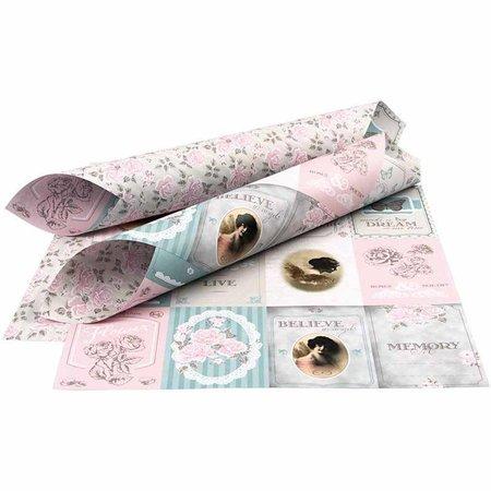 DESIGNER BLÖCKE  / DESIGNER PAPER Doppelseitig bedrucktes Designer Papier, Blatt 30,5x30,5 cm,1 Blatt, 120 gr