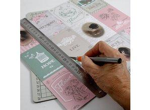 DESIGNER BLÖCKE  / DESIGNER PAPER Double-sided printed paper designer, sheet 30,5x30,5 cm, 1 sheet, 120 gr