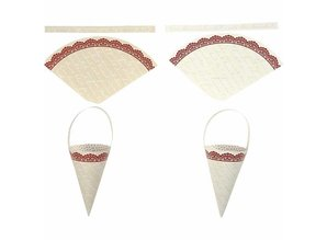 Komplett Sets / Kits 10 cone decoration, H: 13 cm high