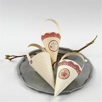 10 cono decoración, H: 13 cm de alto