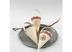 Komplett Sets / Kits 10 kegle dekoration, H: 13 cm høje