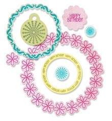 Sizzix Framelits + pugno, Circles & Tag