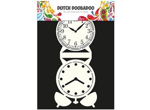 Dutch DooBaDoo Card type - template a grandfather clock