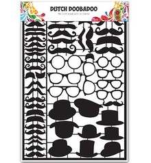 Dutch DooBaDoo Card type - Dutch Paper Art Black Mustaches