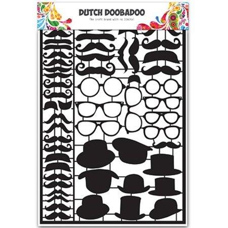 Dutch DooBaDoo Tipo de tarjeta - holandesas Papel Arte Negro Bigotes