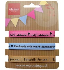 DEKOBAND / RIBBONS / RUBANS ... Decorative ribbons sorted with Text