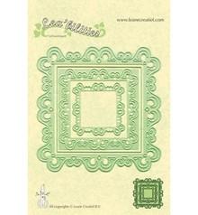 Leane Creatief - Lea'bilities Stampaggio e goffratura stencil, stencil Multi, Cornici rettangolo