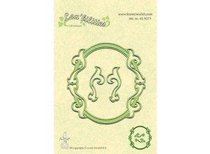 Leane Creatief - Lea'bilities Y el estampado plantillas, plantilla Multi, marcos ovalados