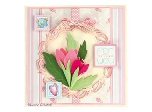 Leane Creatief - Lea'bilities Stamping and embossing stencils, stencil Multi, Frames Oval