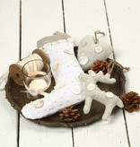 Objekten zum Dekorieren / objects for decorating Stofffiguren, H: 26 cm, Nikolaussocken 2 Stück