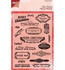 Joy!Crafts und JM Creation Joy Crafts, Transparent stempel, engelske tekst til jul
