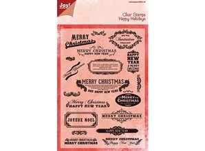 Joy!Crafts und JM Creation Joy Crafts, Transparent stamp, English text for Christmas