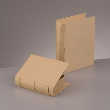 Objekten zum Dekorieren / objects for decorating Book Box Set, 22,5x18x6 og 18x13,5x4,5cm, 2 - stykke