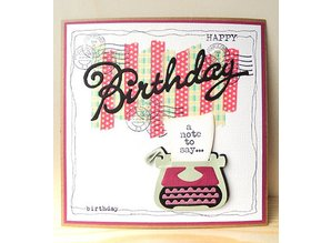 Marianne Design Stamping and embossing stencils, Collectables - Eline's typewriter