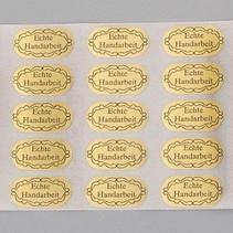 20 etiquetas adhesivas, mano hecha a mano