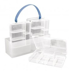 BASTELZUBEHÖR / CRAFT ACCESSORIES Sorting box, 4 small boxes