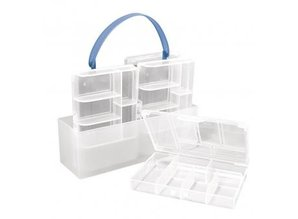 BASTELZUBEHÖR / CRAFT ACCESSORIES Sortering kasse, 4 små kasser