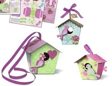 "Exlusiv Bird House Craft Kit Gabbie per uccellini di carta ""Shabby Chic"""