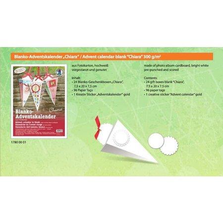 Dekoration Schachtel Gestalten / Boxe ... Las medias de Navidad en blanco para su personalización, 24 CAJAS DE REGALO