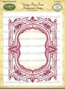 JUSTRITE AUS AMERIKA Etichette Justrite Shabby Chic Cling Stamp Set