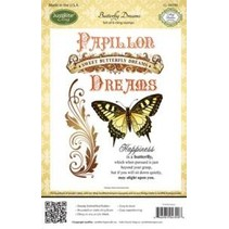 Justrite Rubber Stamp, butterfly