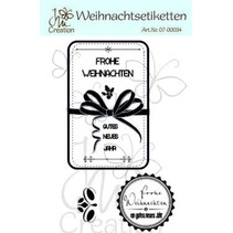 High-quality rubber stamp, christmas labels