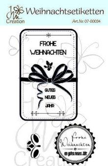 STEMPEL / STAMP: GUMMI / RUBBER Sello de goma de alta calidad, etiquetas de navidad