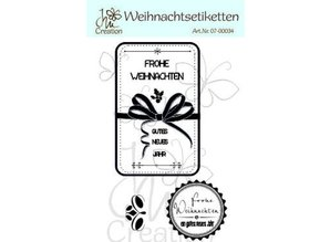 STEMPEL / STAMP: GUMMI / RUBBER High-quality rubber stamp, christmas labels