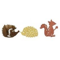 amigos de otoño de madera Streuteile 1.5-2cm, 24 piezas