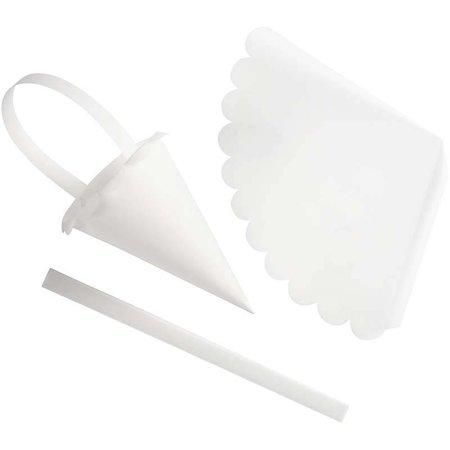 Komplett Sets / Kits Cone, H: 13 cm, gebogte kant, 24 stk.