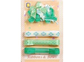 DEKOBAND / RIBBONS / RUBANS ... Collection: Ribbon and Typ of grinding green tones,