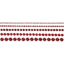 Half pearls, size 2-8 mm, red, ranked 140