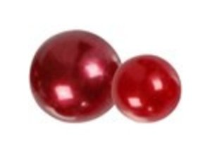 Embellishments / Verzierungen Half pearls, size 2-8 mm, red, ranked 140