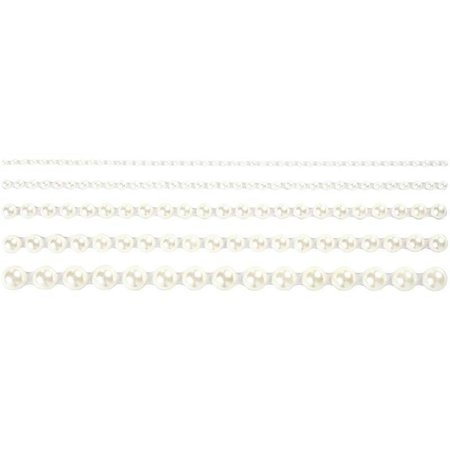 Embellishments / Verzierungen Perlas, tamaño 2-8 mm, blanco, ordenados 140