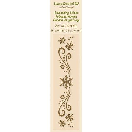 Leane Creatief - Lea'bilities Embossingsfolder, bordure 2.3x13cm, iskrystaller