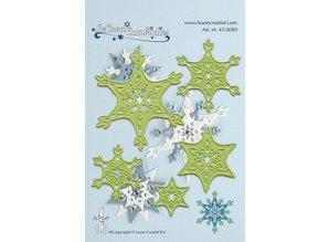 Leane Creatief - Lea'bilities Stamping and embossing stencils, Lea'bilities, ice crystals
